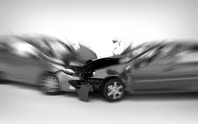 Blurred accident of car crash